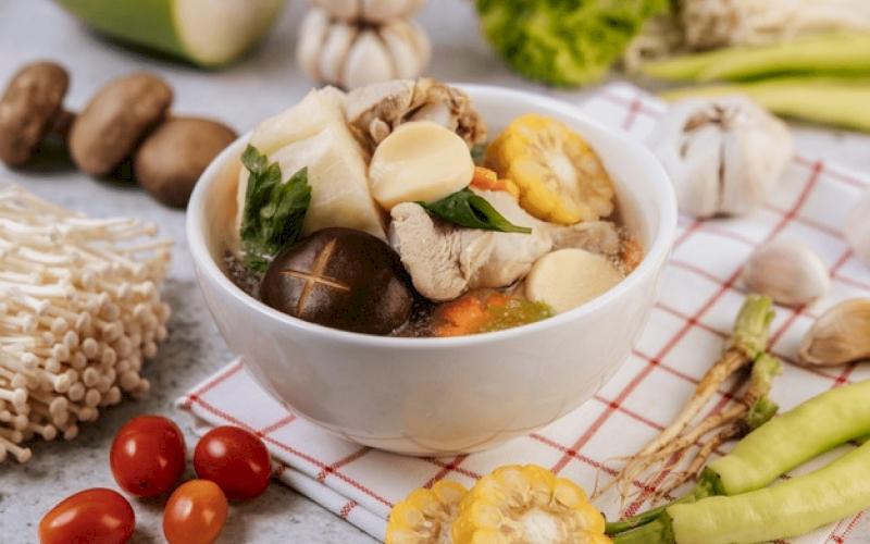 Resep Sup Ayam Jamur Jagung