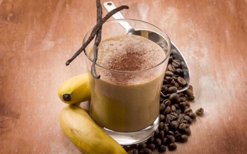 Low Sugar Coffee-Banana Smoothie